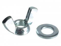 Forgefix Wing Nut & Washers ZP M10 Forge Pack 6