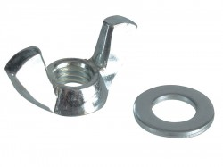 Forgefix Wing Nut & Washers ZP M8 Forge Pack 8