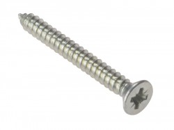 Forgefix Self-Tapping Screw Pozi CSK ZP 1.1/4in x 8 Box 200