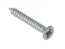 Forgefix Self-Tapping Screw Pozi CSK ZP 1/2in x 6 Box 200