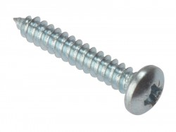 Forgefix Self-Tapping Screw Pozi Pan Head ZP 1/2in x 8 Box 200