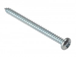 Forgefix Self-Tapping Screw Pozi Pan Head ZP 2in x 8 Box 200