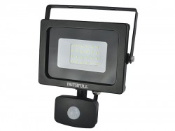 Faithfull Power Plus SMD LED Security Light with PIR 20W 1600 Lumen 240V