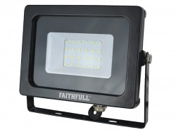 Faithfull Power Plus SMD LED Wall Mounted Floodlight 20W 1600 Lumens 240V