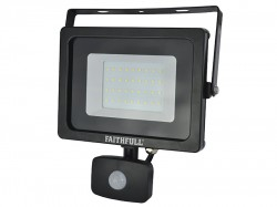 Faithfull Power Plus SMD LED Security Light with PIR 30W 2400 Lumen 240V