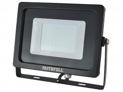 Faithfull Power Plus SMD LED Wall Mounted Floodlight 30W 2400 Lumens 240V