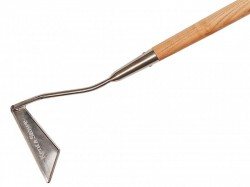 Kent & Stowe Stainless Steel Long Handled 3-Edged Hoe, FSC®