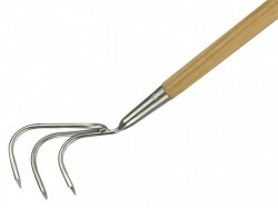 Kent & Stowe Stainless Steel Long Handled 3-Prong Cultivator, FSC®