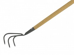 Kent & Stowe Carbon Steel Long Handled 3-Prong Cultivator, FSC®