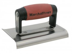 Marshalltown M136D Cement Edger 6 x 3in Durasoft Handle Curved ends.