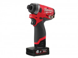 Milwaukee Power Tools M12 FID-602X Fuel Sub Compact 1/4in Impact Driver 12V 2 x 6.0Ah Li-ion