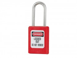 Master Lock Lockout Padlock – Keyed Alike 35mm Body & 4.76mm Stainless Steel Shackle