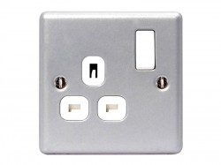 Masterplug Metal Clad Switched Socket 1-Gang 13A
