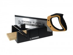 Roughneck Mitre Box & Hardpoint Tenon Saw Set 300mm (12in)
