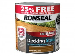 Ronseal Ultimate Protection Decking Stain Country Oak 2 litre + 25%