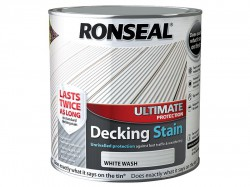 Ronseal Ultimate Protection Decking Stain White Wash 2.5 Litre