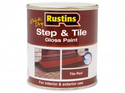 Rustins Quick Dry Step & Tile Paint Gloss Red 500ml