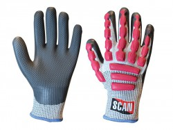 Scan Anti-Impact Latex Cut 5 Gloves - L (Size 9)