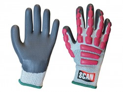 Scan Anti-Impact Latex Cut 5 Gloves - M (Size 8)