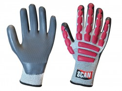 Scan Anti-Impact Latex Cut 5 Gloves - XXL (Size 11)