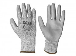 Scan Grey PU Coated Cut 3 Gloves - XL (Size 10)