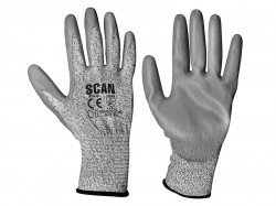 Scan Grey PU Coated Cut 3 Gloves - XXL (Size 11)