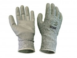 Scan Grey PU Coated Cut 5 Liner Gloves - XL