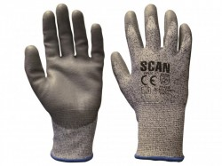 Scan Grey PU Coated, Cut 5 Liner Gloves - Large