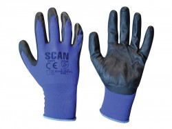 Scan Max. Dexterity Nitrile Gloves - L (Size 9)