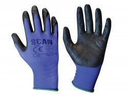 Scan Max. Dexterity Nitrile Gloves - M (Size 8)