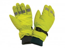 Scan Hi-Visibility Gloves, Yellow Large
