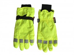 Scan Hi-Visibility Gloves, Yellow Extra Large