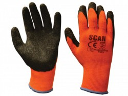 Scan Thermal Latex Coated Gloves - M (Size 8)