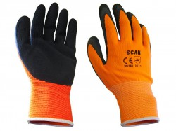 Scan Orange Foam Latex Coated Glove 13g - XL