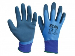 Scan Waterproof Latex Gloves - M (Size 8)