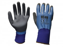 Scan Waterproof Latex Gloves - XL (Size 10)