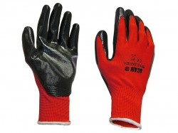 Scan Palm Dipped Black Nitrile Glove - XL