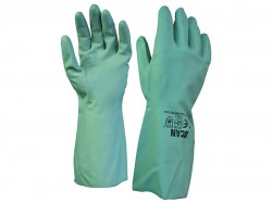 Scan Nitrile Gauntlets with Flock Lining Large (Size 9)