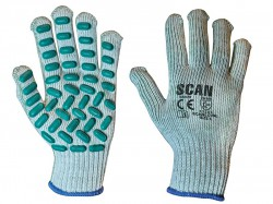 Scan Vibration Resistant Latex Foam Gloves - L (Size 9)