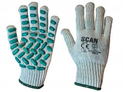 Scan Vibration Resistant Latex Foam Gloves - M (Size 8)