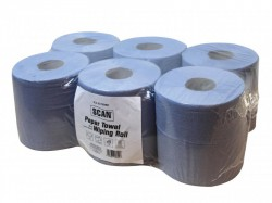 Scan Paper Towel Wiping Roll 2-Ply 176mm x 150m (Pack 6)