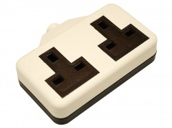 SMJ White Extension Socket 13A 2 Gang