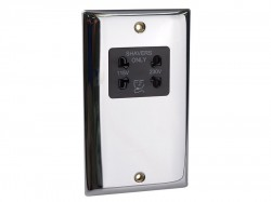 SMJ Dual Voltage Shaver Socket Chrome