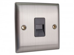SMJ Master Telephone Outlet Brushed Steel