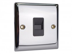 SMJ Secondary Telephone Outlet Chrome