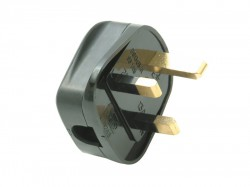 SMJ Black Plug 13A Fused (Trade Pack of 20)