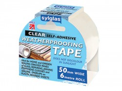Sylglas Clear Waterproofing Tape 50mm x 6m Roll