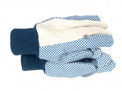 Town & Country TGL404 Mens Dotted Canvas Gloves