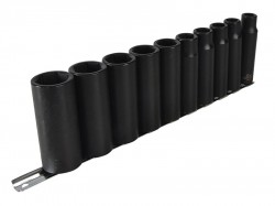 Teng 9126 Deep Impact Socket Set of 10 Metric 1/2in Drive