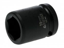 Teng Impact Socket Hexagon 6-Point 1/2in Drive 19mm